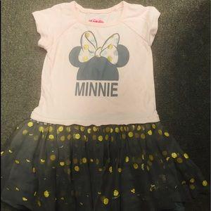 Disney pink grey Minnie dress